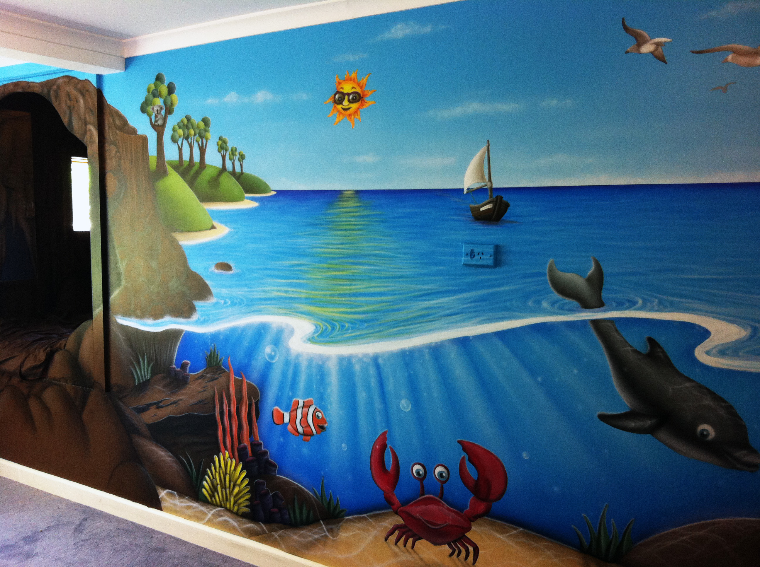 Cheeky airbrushing kids rooms murals cheeky airbrushing for Airbrushing mural