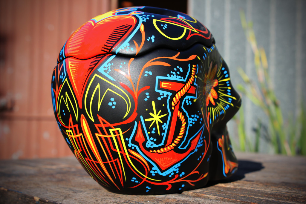 skull art Hand painted